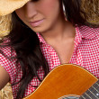 Stock Photo: Acoustic Guitar Girl