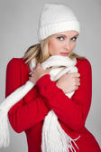 Winter Fashion Woman — Stock Photo