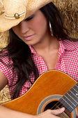 Acoustic Guitar Girl — Stock Photo