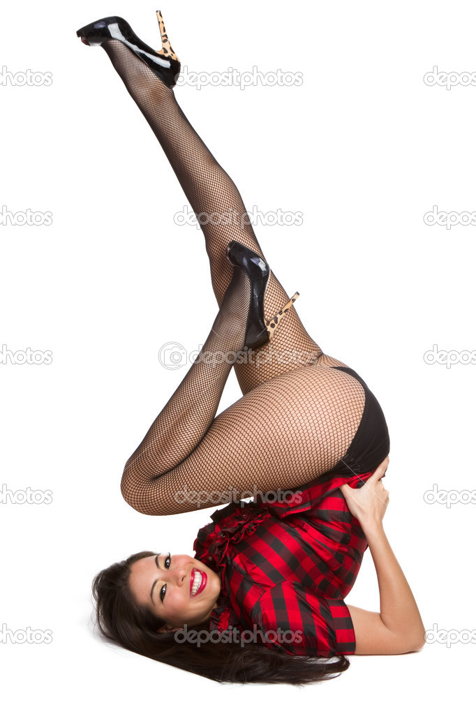 Beautiful isolated pin up girl — Stock Photo #2401097