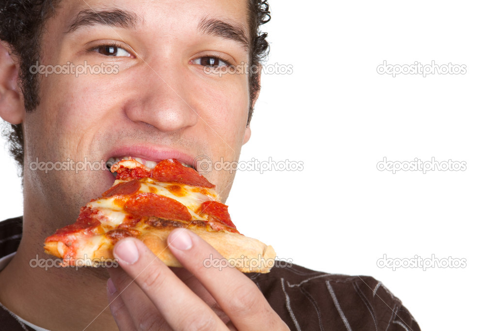 Hungry many eating pizza  Foto de Stock   #2401111