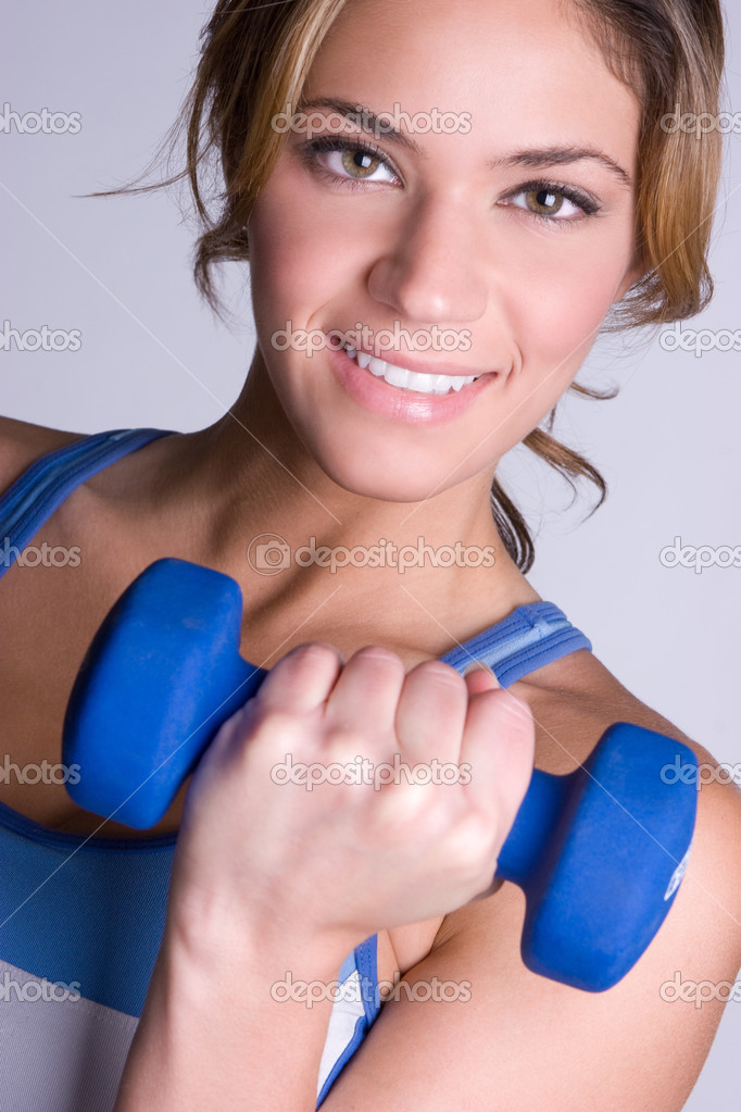 Happy healthy workout woman  Stock Photo #2401156