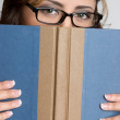 Woman Holding Book — Stock Photo