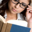 Girl Reading Book - Stock Photo