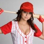 Baseball Woman — Stock Photo