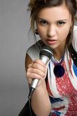 Rock Star Teen Girl — Stock Photo