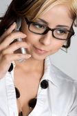 Chica celular — Foto de Stock