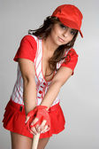 Hispanic Baseball Player — Stockfoto