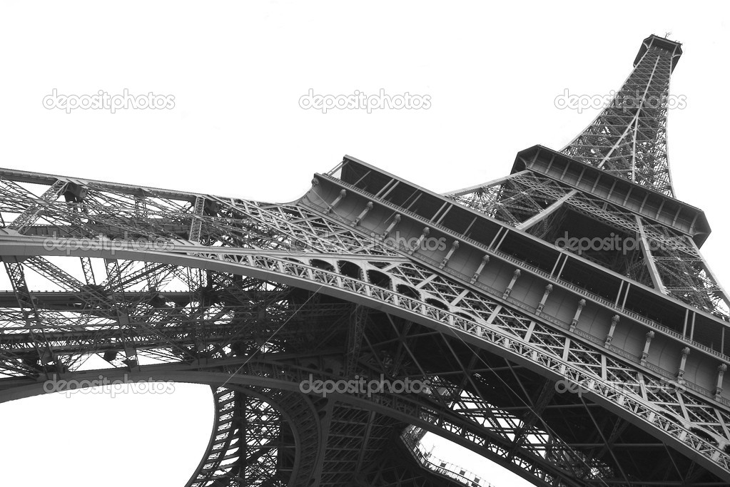 Eiffel Tower Black And White Background Eiffel Tower on Clear Background in Black And White Photo by Snow Wons