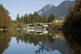 Zugspitze Riessersee Bavaria Germany — Stock Photo
