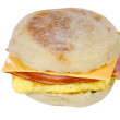 Egg and cheese sandwich — Stock Photo