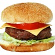 Isolated Cheese Burger — Stock Photo