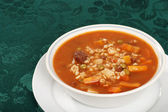 Beef barley soup — Stock Photo