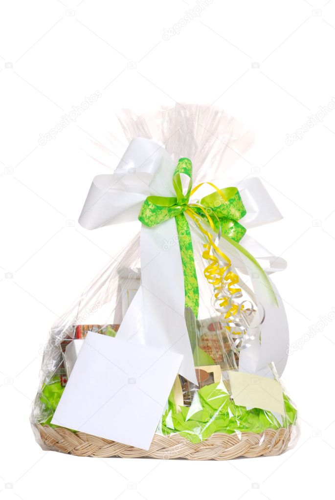 Isolated gift basket on a white background — Stock Photo #2374914