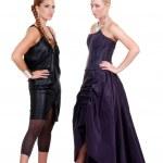 Two Fashion Models Posing — Stock Photo