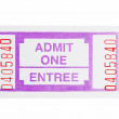 Admit one ticket — Stock Photo #2383600