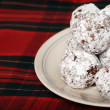 Baked chocolate coconut snowballs — Stock Photo