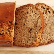 Banana bread focus on slices — Stock Photo