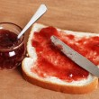 Royalty-Free Stock Photo: Bread and jam with knife