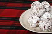 Baked chocolate coconut snowballs — Stock Photo