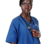 enfermeira americana Africano — Foto Stock