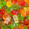 Assorted gummy bear candy — Stock Photo