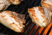 Barbeque chicken on a grill — Stock Photo