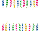 Birthday candle background — Stock Photo