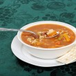 Beef barley soup starter — Stock Photo