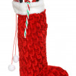 Christmas sock filled with toys an candy — Stock Photo #2449659