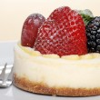 Closeup fruit cheesecake — Stock Photo