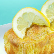 Closeup lemon pound cake — Stock Photo