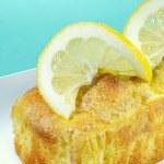 Closeup lemon pound cake — Stock Photo #2449846