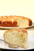 Closeup lemon poppy seed cake — Stock Photo