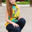 Young teen female posing — Stock Photo