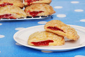 Cherry danish on a plate — Stock Photo