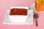Chili With Toast — Stock Photo