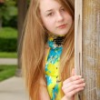 Teen portrait outdoors — Stock Photo