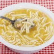 Chicken noodle soup with spoon — Stock Photo #2551171
