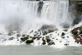 American falls viewing area Niagara — Stock Photo