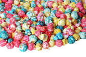 Colorful Candy popcorn isolated — Stock Photo