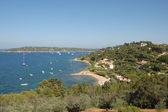St Tropez bay from hilltop — Stock Photo