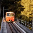 Stock Photo: Funicular train vertical