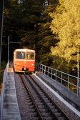 Funicular train vertical — Stock Photo