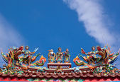 Chinese Temple , god with dragon on the — Stock Photo