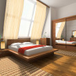 Interior to bedrooms — ストック写真