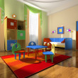Interior of the baby room - Stock Photo