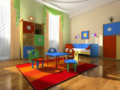Interior of the baby room — Stock Photo
