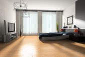 Interiér ložnice — Stock fotografie
