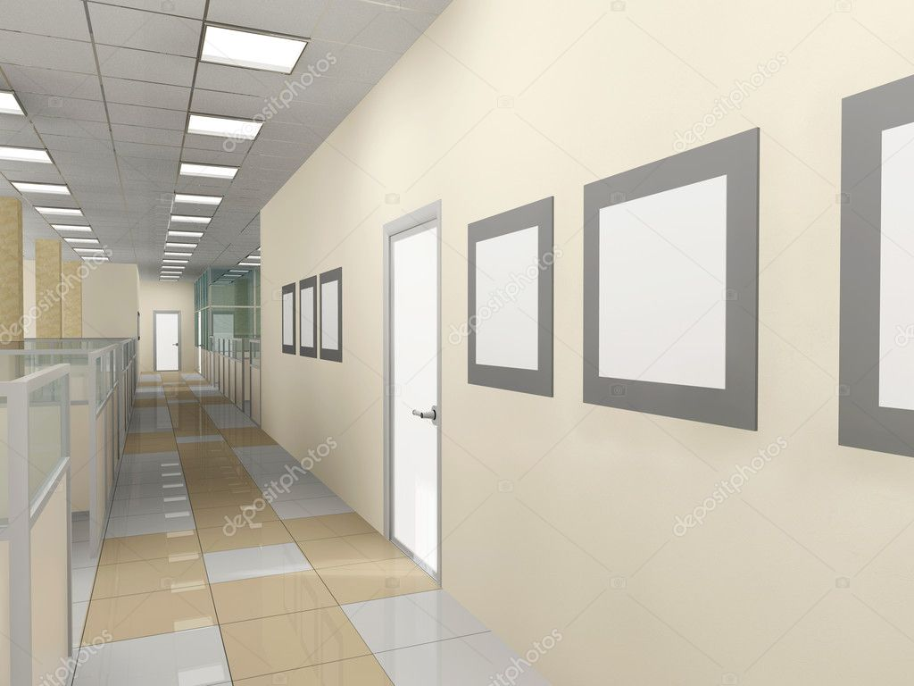 Interior of office premise without furniture — Stock Photo #2452024